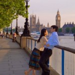 VL Couple at sunset by the Thames rs