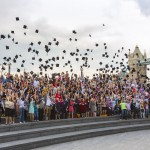 VL student mortar board throwing world record 2012